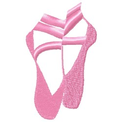 Ballet Slippers embroidery design