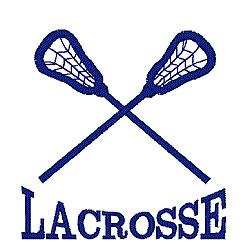 Lacrosse Logo embroidery design