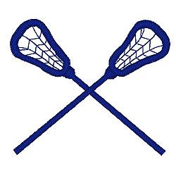 Lacrosse Sticks embroidery design