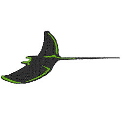 Manta Ray embroidery design