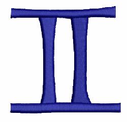 Gemini Sign embroidery design