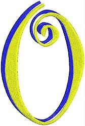 Giant Curlz 3D 0 embroidery design