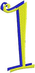 Giant Curlz 3D 1 embroidery design