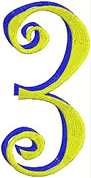 Giant Curlz 3D 3 embroidery design