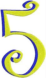Giant Curlz 3D 5 embroidery design