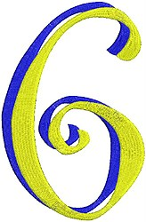 Giant Curlz 3D 6 embroidery design