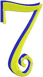 Giant Curlz 3D 7 embroidery design