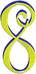Giant Curlz 3D 8 embroidery design