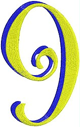 Giant Curlz 3D 9 embroidery design