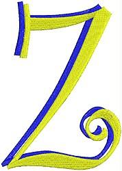 Giant Curlz 3D Capital Z embroidery design