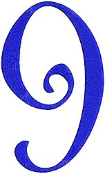Giant Curlz 9 embroidery design