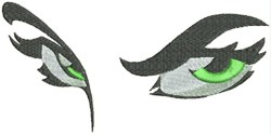 Green Eyes embroidery design