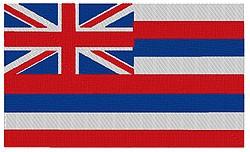 Hawaii Flag embroidery design