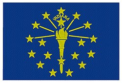 Indiana Flag embroidery design