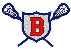 Lacrosse B embroidery design