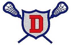 Lacrosse D embroidery design