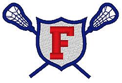 Lacrosse F embroidery design