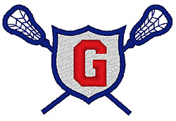 Lacrosse G embroidery design