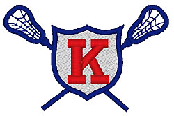 Lacrosse K embroidery design