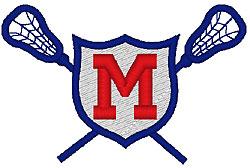 Lacrosse M embroidery design