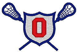 Lacrosse O embroidery design