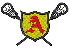 Lacrosse Old English A embroidery design