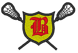 Lacrosse Old English B embroidery design