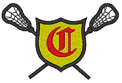 Lacrosse Old English C embroidery design