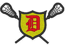 Lacrosse Old English D embroidery design
