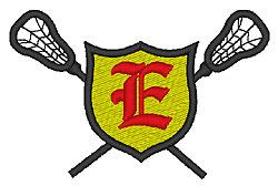 Lacrosse Old English E embroidery design