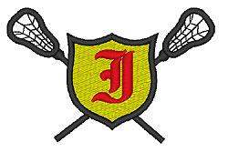 Lacrosse Old English I embroidery design