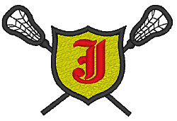 Lacrosse Old English J embroidery design