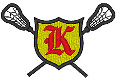 Lacrosse Old English K embroidery design