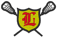 Lacrosse Old English L embroidery design