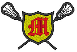 Lacrosse Old English M embroidery design