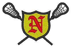Lacrosse Old English N embroidery design