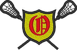 Lacrosse Old English O embroidery design