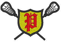 Lacrosse Old English P embroidery design
