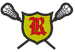 Lacrosse Old English R embroidery design