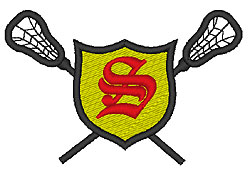 Lacrosse Old English S embroidery design