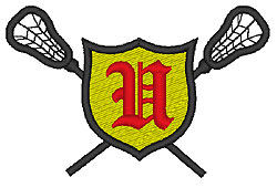 Lacrosse Old English U embroidery design