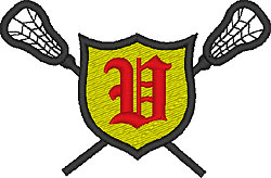 Lacrosse Old English V embroidery design