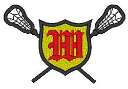 Lacrosse Old English W embroidery design