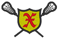 Lacrosse Old English X embroidery design