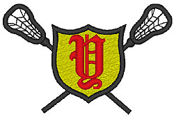 Lacrosse Old English Y embroidery design