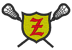 Lacrosse Old English Z embroidery design
