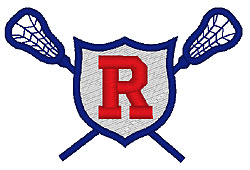 Lacrosse R embroidery design