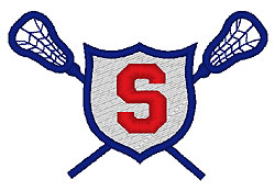 Lacrosse S embroidery design