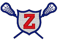 Lacrosse Z embroidery design
