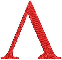 Lambda embroidery design